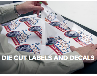 Dye Cut Stickers. Labels and Decals