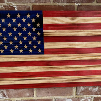 US Flags made of Wood
